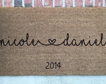 Personalized Doormat // Wedding Gift Door Mat // Personalized Welcome Mat // Wedding Door Mat // Custom Welcome Mat // Custom Door Mat