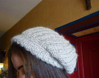 Beige women Hat chunky Knitting yarn