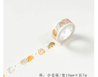 Hamster hamsters kawaii cute washi tape deco tape masking tape scrapbook planner happy mail craft bullet journal