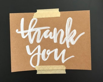 Thank You Script 1 Greeting Card
