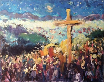Cross of the Martyrs, Santa Fe, New Mexico by Russ Potak Artist