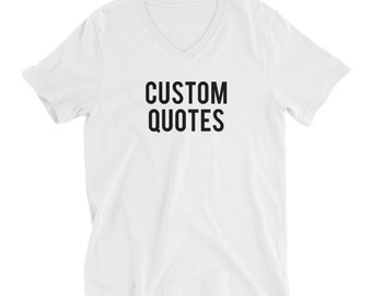 RESERVED 8 V-NECK Shirts: Custom Quotes Bridal Party Unisex fit T-Shirts - Bridesmaid Getting Ready Outfit - Robe