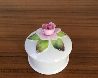 Crown Staffordshire Rose Trinket Dish