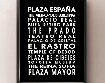 Madrid Bus Roll - Spain Poster