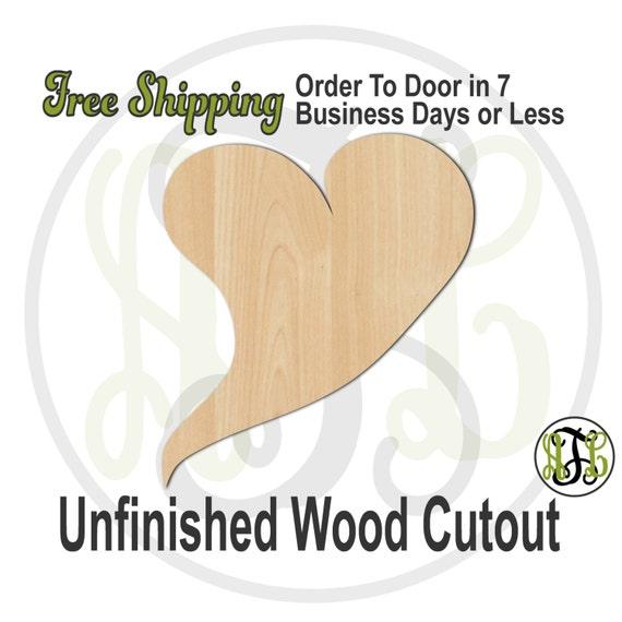 Heart 3 - 110013- Valentine Cutout, unfinished, wood cutout, wood craft, laser cut shape, wood cut out, Door Hanger, wooden, wall art