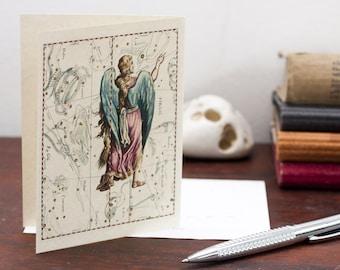 Printable Zodiac Sign Virgo Constellation Greeting Card Printable Digital File Instant Download Birthday Card PDF Download File Christmas