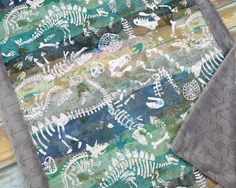 Dinosaur Baby Shower - Dino Baby Blanket - Dinosaur Blanket - Dino Blanket - Baby Blanket - Minky Baby Blanket - Minky Blanket - Cobalt Blue