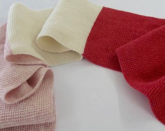Pink and Red Colour Block Scarf