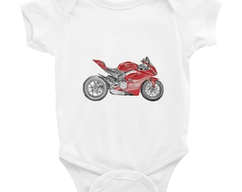 Baby Shower Gift Unique Baby Gift Tintabybulka Motorcycle Onesies Funny Onesies Ducati Ducati V4 Baby Girl Baby Boy Gift Baby Onesies