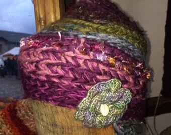 Hat Crochet cap Colorful