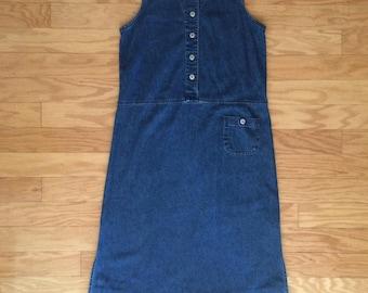 90s Original TY Wear 100% Denim Jumper Dress
