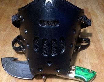 "Leather MasK ""killer bug"" [Hannibal] by SanDiegoChopper [All Black] (black stitching leather black)"