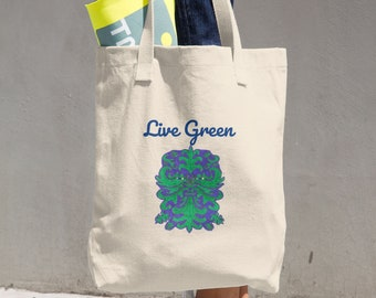 Live Gree Cotton Tote Bag