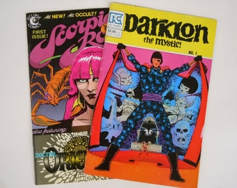 Psychedelic Comic Set 1983 Darklon the Mystic and Scorpio Rose First Issues