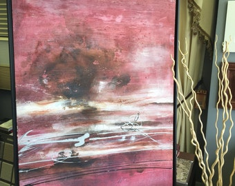 "Oil painting by hand made on canvas ,31.5""X47""  Ready to Hang, Frame."