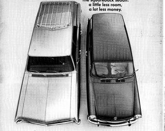 1968 VW Squareback-Little Less Room- Lot Less Dollars- Original 13.5 * 10.5 Magazine Ad