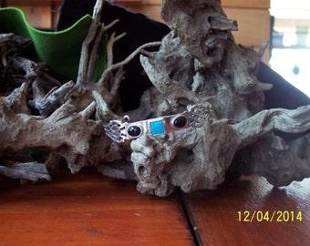 Unique Sterling silver bracelet. w/ Turquoise
