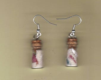 sea shell bottled earrings