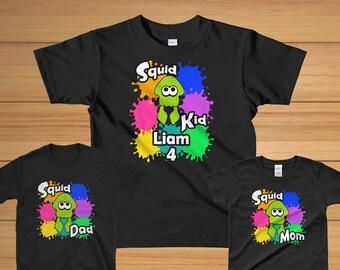 Splatoon Birthday Shirt/Splatoon Party/Squid Kid/Splatoon Birthday Party/Kids T Shirt/Splatoon 2 Birthday/Nintendo Kids/Switch/Kids Clothing