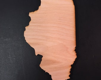 IL Illinois Wood Cutouts - Shapes for Projects or Other Use