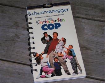 Kindergarten Cop VHS Notebook /Notepad / Upcycled Notebook / Teacher Gift / Thought Journal / To Do List / Purse Planner