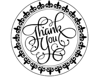 Round Rubber Stamp, Wedding Thank You  Stamp, Self Inking Round Stamp, Rubber Thank You Stamp, Wedding Favor Stamp  HS134P