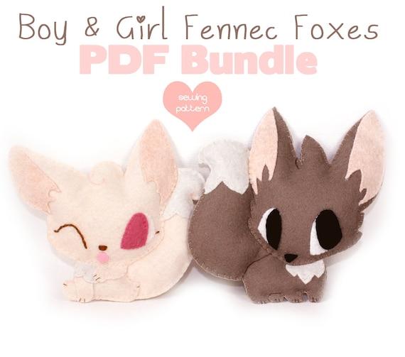 PDF sewing patterns Fennec Fox stuffed animals easy