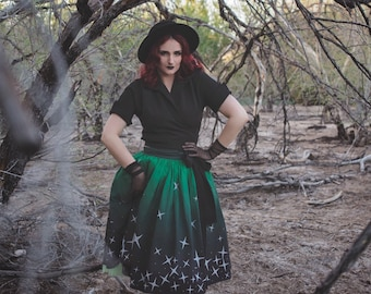 Emerald Twilight Trixie Skirt - Midnight Magick Collection