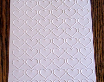 HAPPY HEART Embossed Card Stock Panels Perfect for Scrapbooking and Card Making - Set of 12