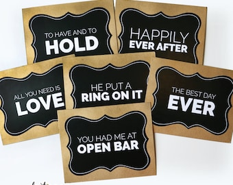 Wedding Photo Booth Props Set of 6