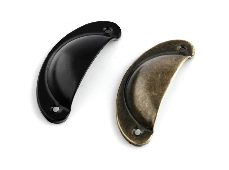 Cup Dresser Pull Drawer Pulls Handle Knobs Antique Bronze
