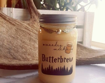 Butterbrew Harry Potter wood wick soy candle with snitch