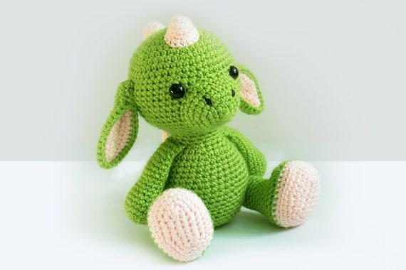 Crochet Dragon Pattern Amigurumi Dragon Pattern Crochet Knitted