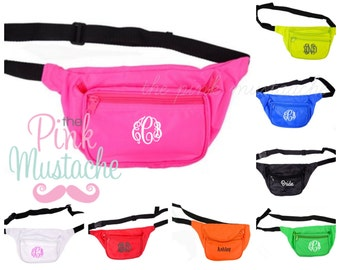 Monogrammed Fanny Pack / Personalized Fanny Pack / Bright Fanny Packs