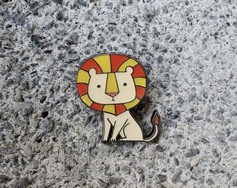 Lion Enamel Pin