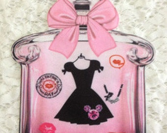 Iron on Perfume bottle patch applique vintage fashion patch applique T-shirt or Sweater decoration patch