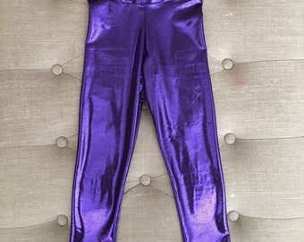 Purple Metallic Leggings for baby - big girls!!