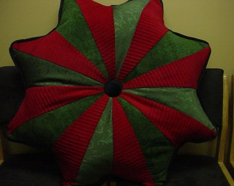 Large Quilted Christmas Pillow.