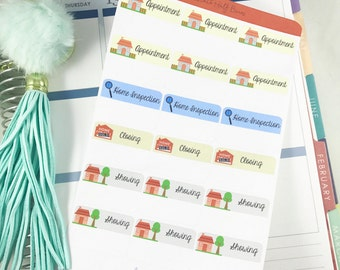 Real Estate Agent Sticker | Planner Home Selling Sticker for Erin Condren  / Real Estate Stickers, Agent Sticker, Home Appointment Stickers