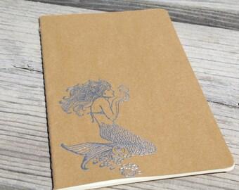 Embossed Mermaid Lined Journal