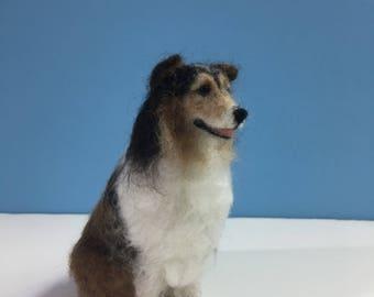 Mini-Pup Needle Felted Sheltie