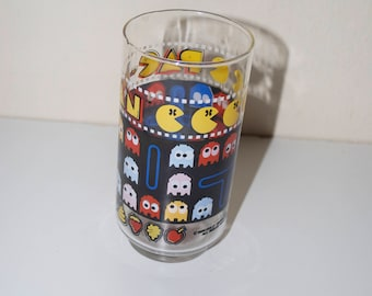 Vintage Pac Man Drinking Glass Collector Series 1980 Bally Midway