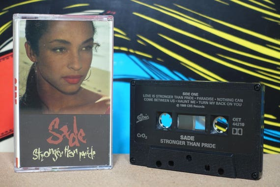 Stronger Than Pride by Sade Vintage Cassette Tape