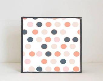 polka dot geometric nursery art- woodland nursery, boho nursery, nursery prints,  baby nursery decor- kids playroom redtilestudio, nursery