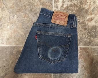 Vintage Men's 80's Levi's 501XX, Jeans, Blue, Red Tab, Denim (W32 x L31)
