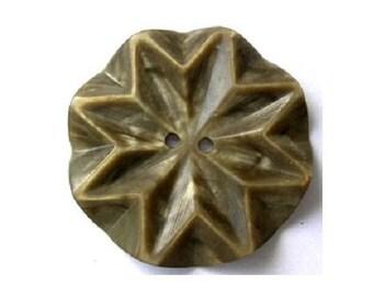 Vintage plastic button, flower, button jewelry, 34mm