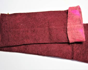 Red and Pink Reversible Wrist Warmer