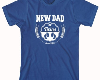 New Dad of Twins Since 2016 shirt, gift for dad, new dad, father's day - ID: 803