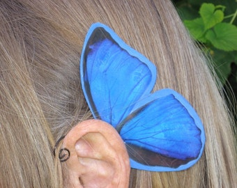 Morpho Blue Fairy Ear Wings