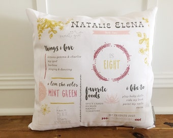 Personalized Girl Pillow Cover